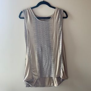 Tank style tunic with longer back panel